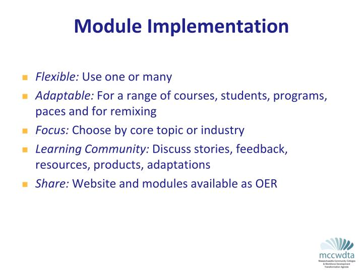 Module Implementation