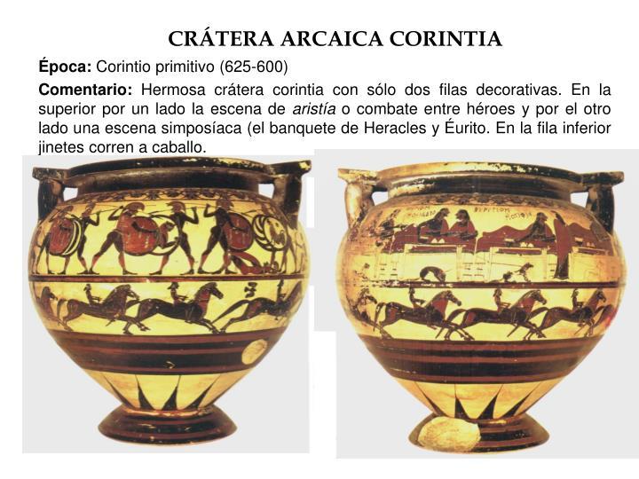 CRÁTERA ARCAICA CORINTIA