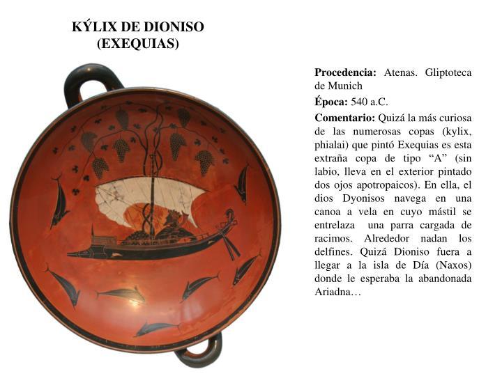 KÝLIX DE DIONISO (EXEQUIAS)