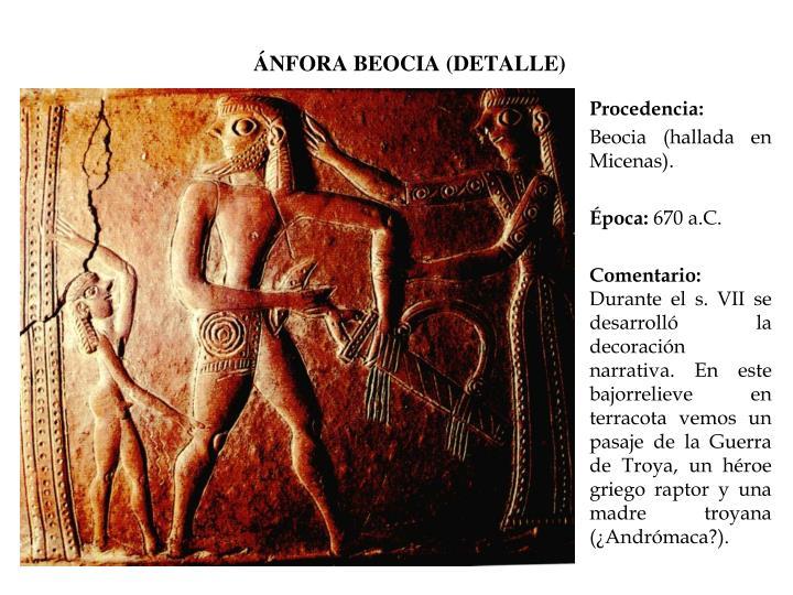 ÁNFORA BEOCIA (DETALLE)