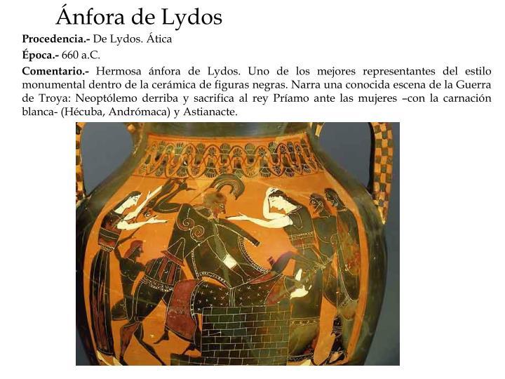 Ánfora de Lydos