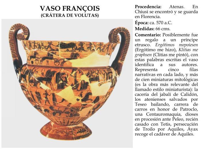 VASO FRANÇOIS