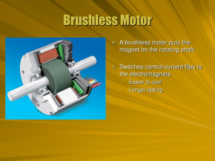 A brushless motor puts the magnet on the rotating shaft.
