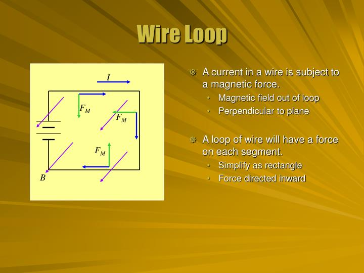A current in a wire is subject to a magnetic force.