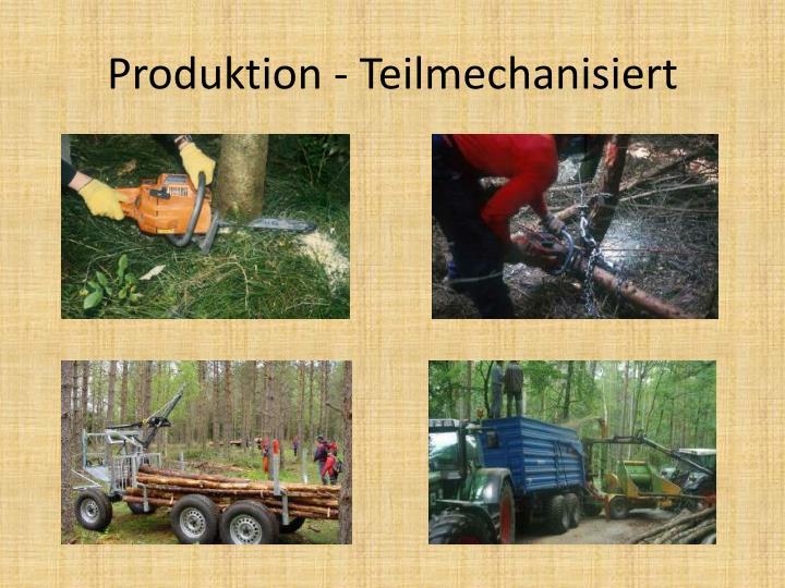 Produktion - Teilmechanisiert