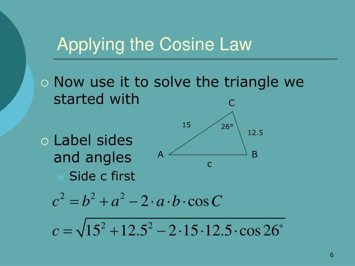 Applying the Cosine Law