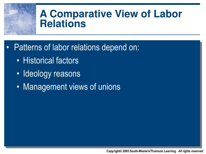 A Comparative View of Labor Relations