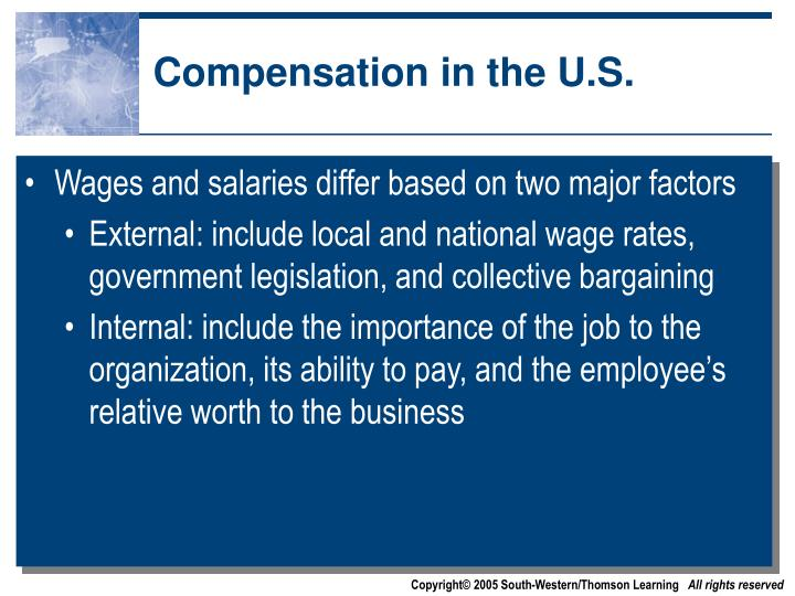 Compensation in the U.S.