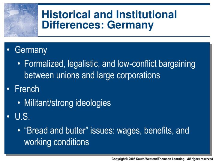 Historical and Institutional Differences: Germany