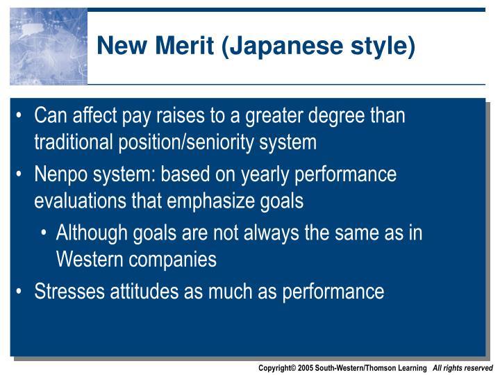 New Merit (Japanese style)