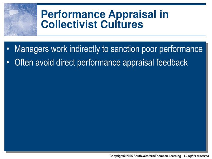 Performance Appraisal in Collectivist Cultures