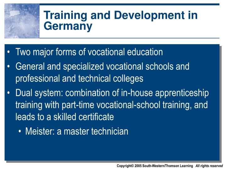 Training and Development in Germany