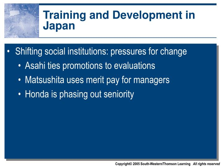Training and Development in Japan