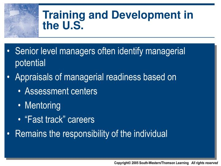 Training and Development in the U.S.