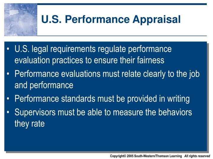 U.S. Performance Appraisal