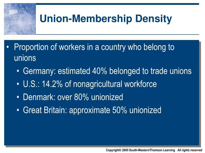 Union-Membership Density
