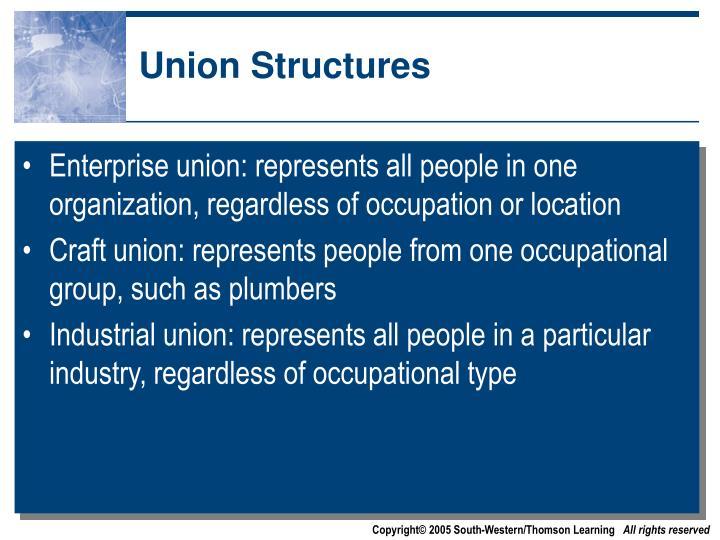 Union Structures