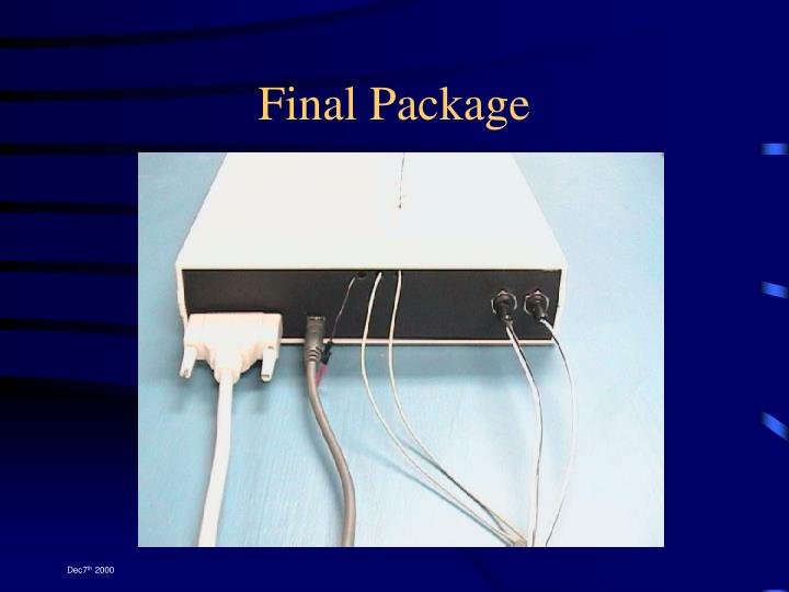 Final Package