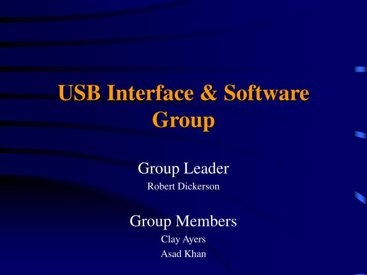 USB Interface & Software Group
