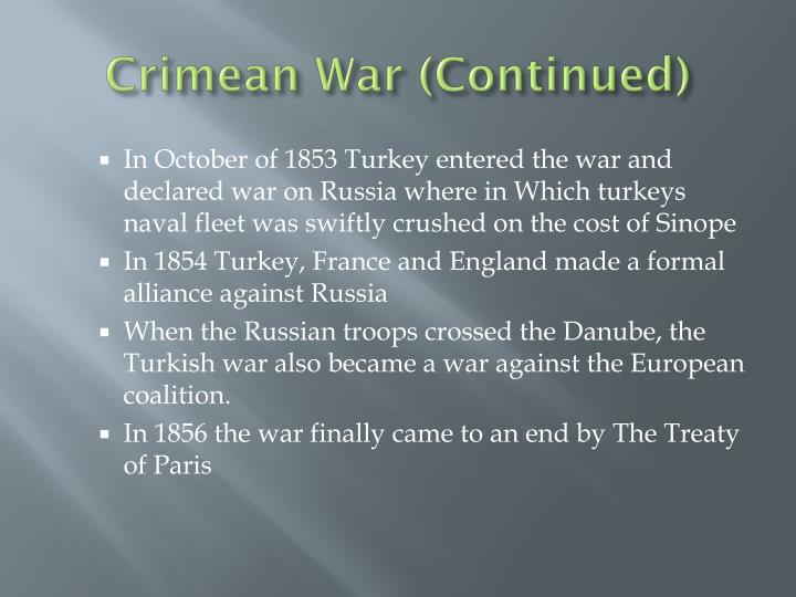 Crimean War (Continued)