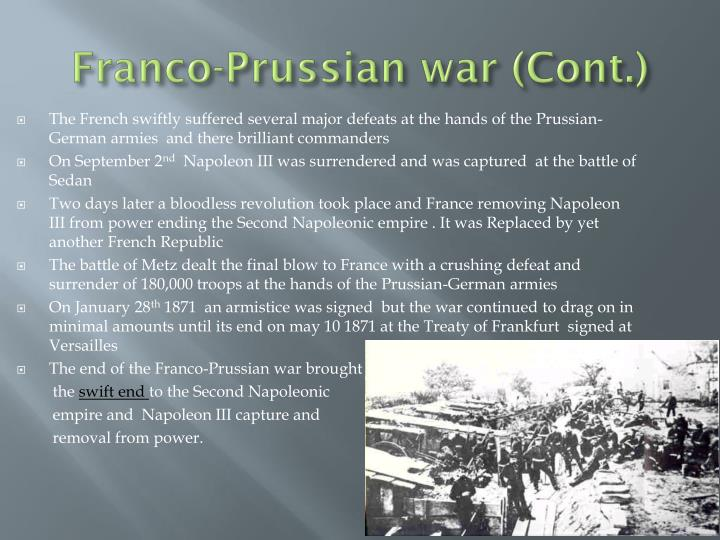 Franco-Prussian war (Cont.)