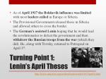 turning point 1 lenin s april theses