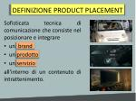 definizione product placement