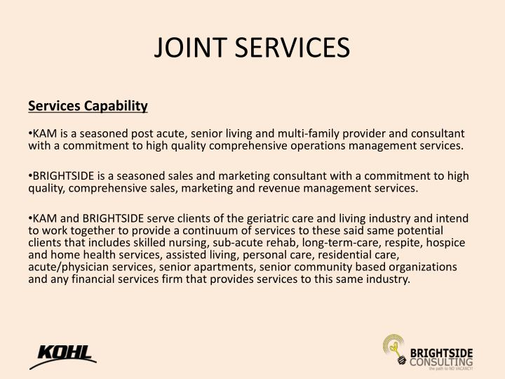 JOINT SERVICES