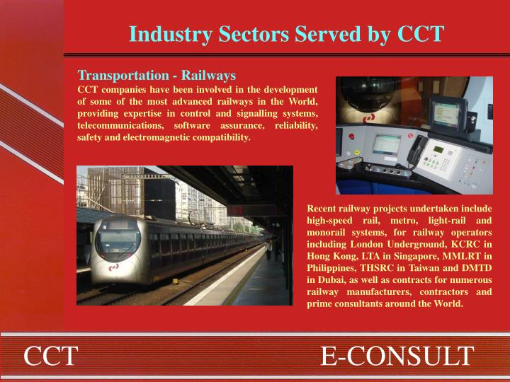Industry Sectors Served by CCT