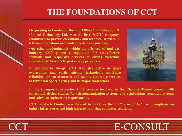 THE FOUNDATIONS OF CCT