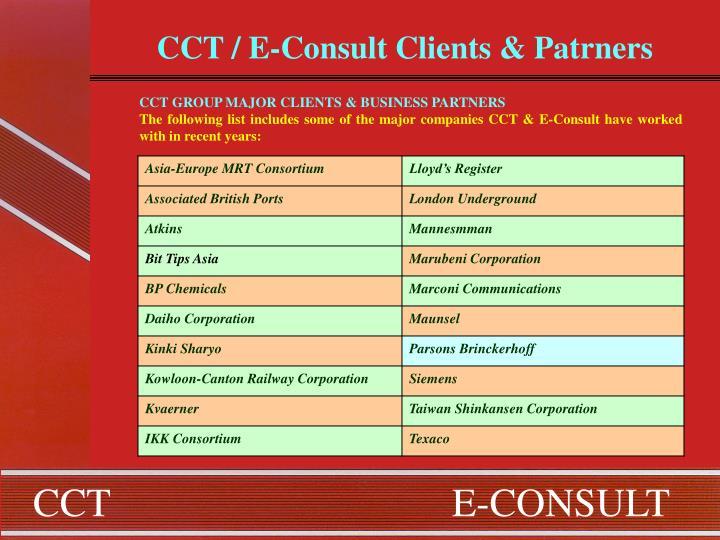 CCT / E-Consult Clients & Patrners
