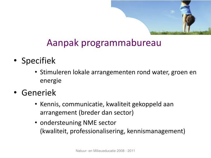 Aanpak programmabureau