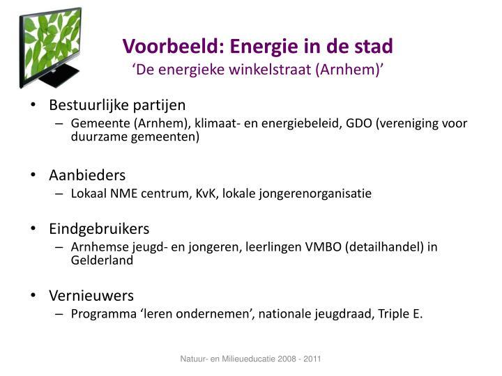 Voorbeeld: Energie in de stad