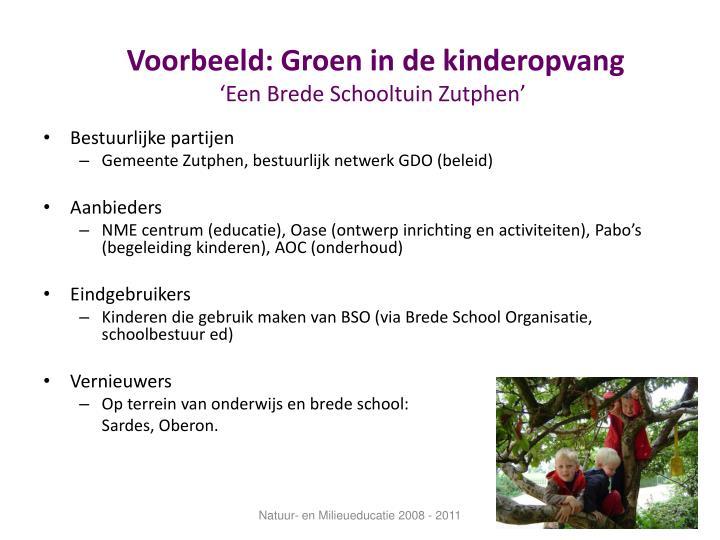 Voorbeeld: Groen in de kinderopvang