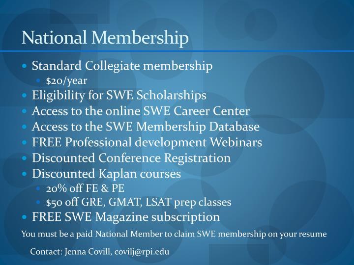 National Membership