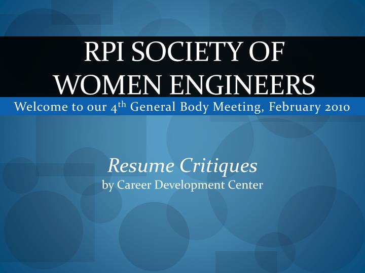 rpi society of women engineers