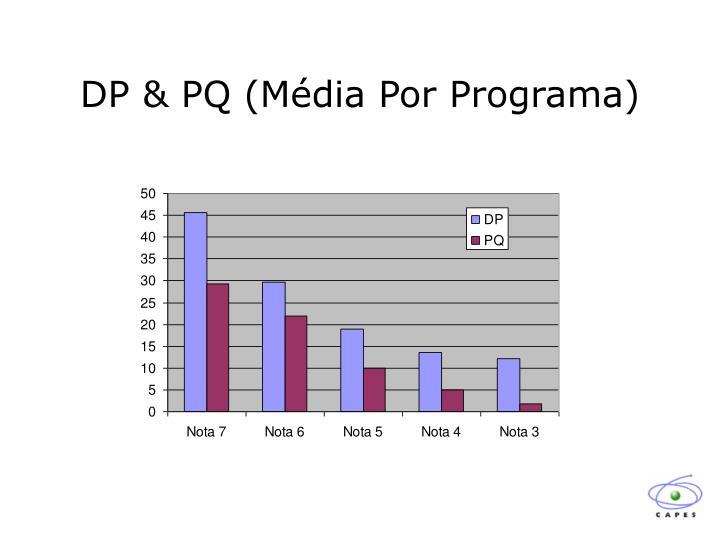 DP & PQ (Média Por Programa)