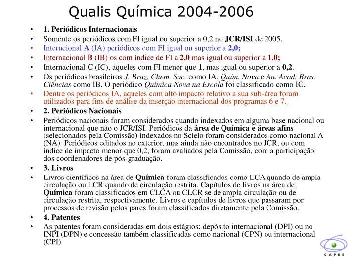 Qualis Química 2004-2006