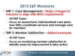 2013 s p measures