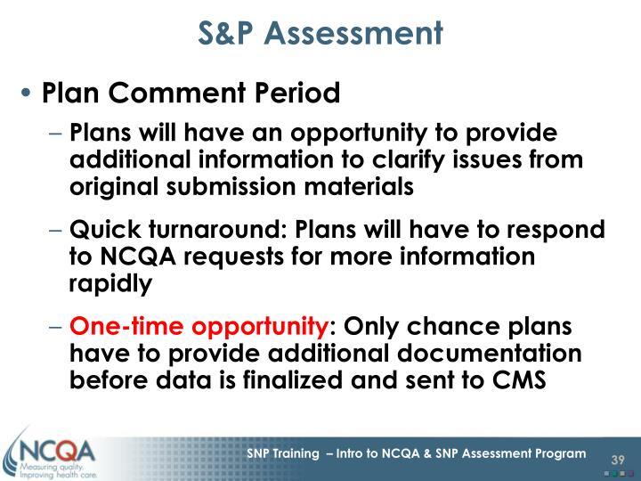 S&P Assessment