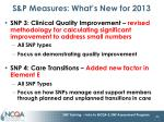 s p measures what s new for 2013