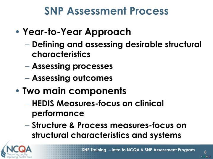 SNP Assessment Process
