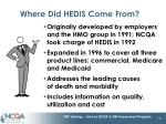 where did hedis come from
