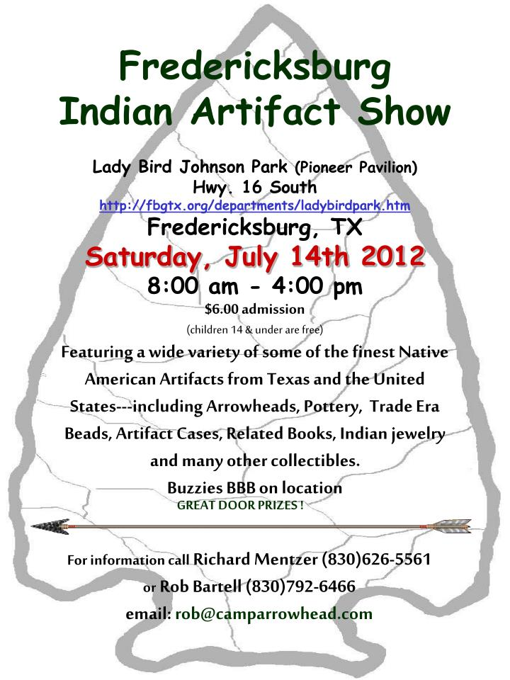 Fredericksburg Indian Artifact Show