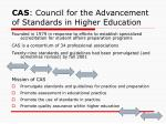 cas council for the advancement of standards in higher education