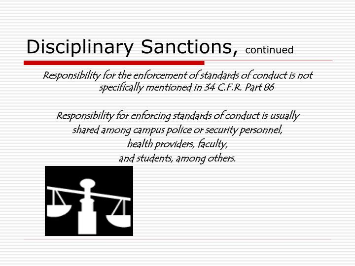 Disciplinary Sanctions,