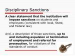 disciplinary sanctions