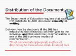 distribution of the document