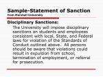 sample statement of sanction from marshall university