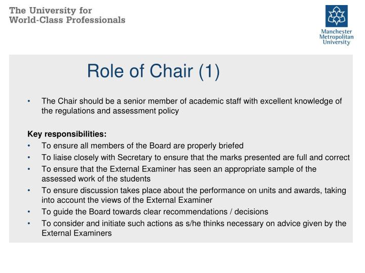 Role of Chair (1)